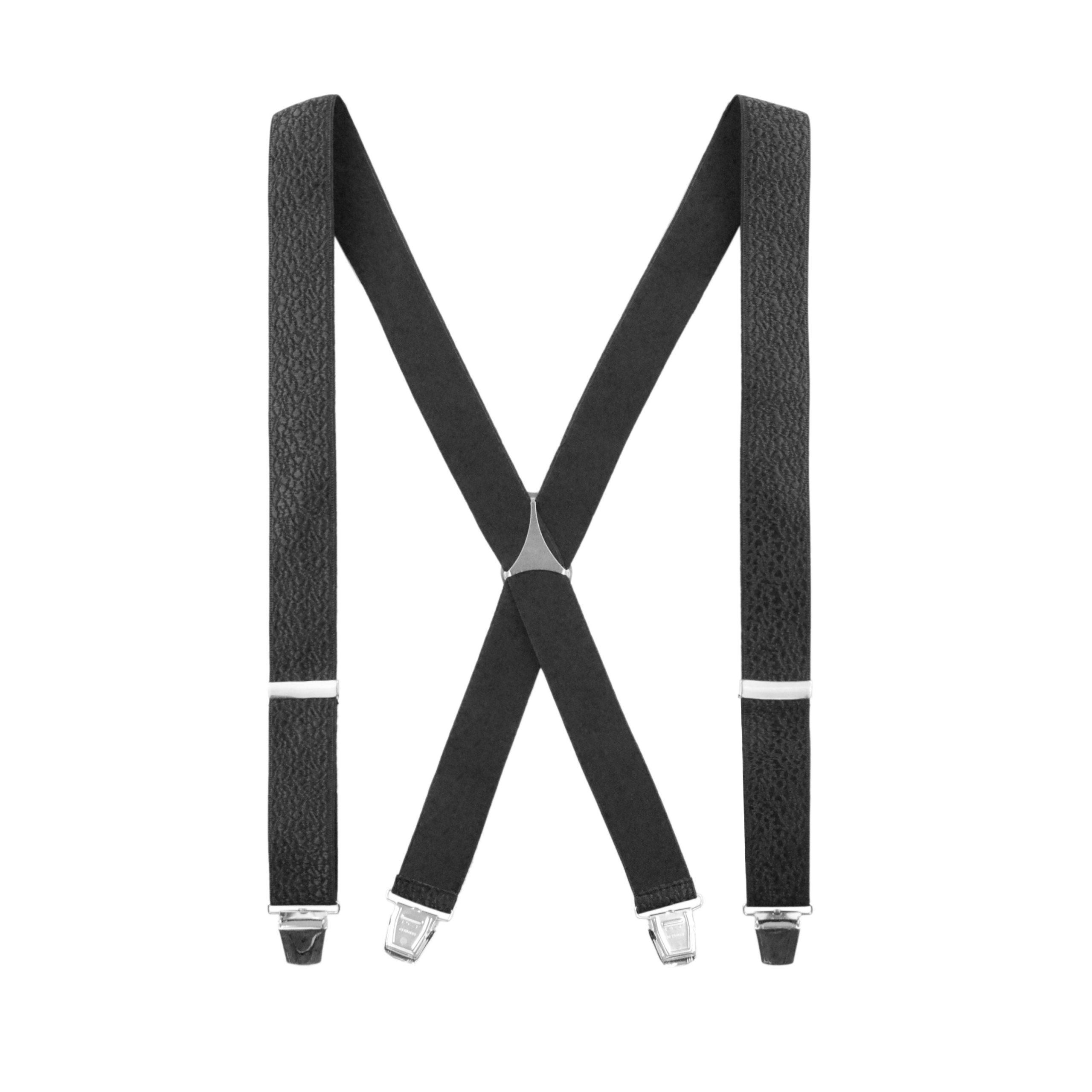 Bretelles Tissées Noires aspect cuir