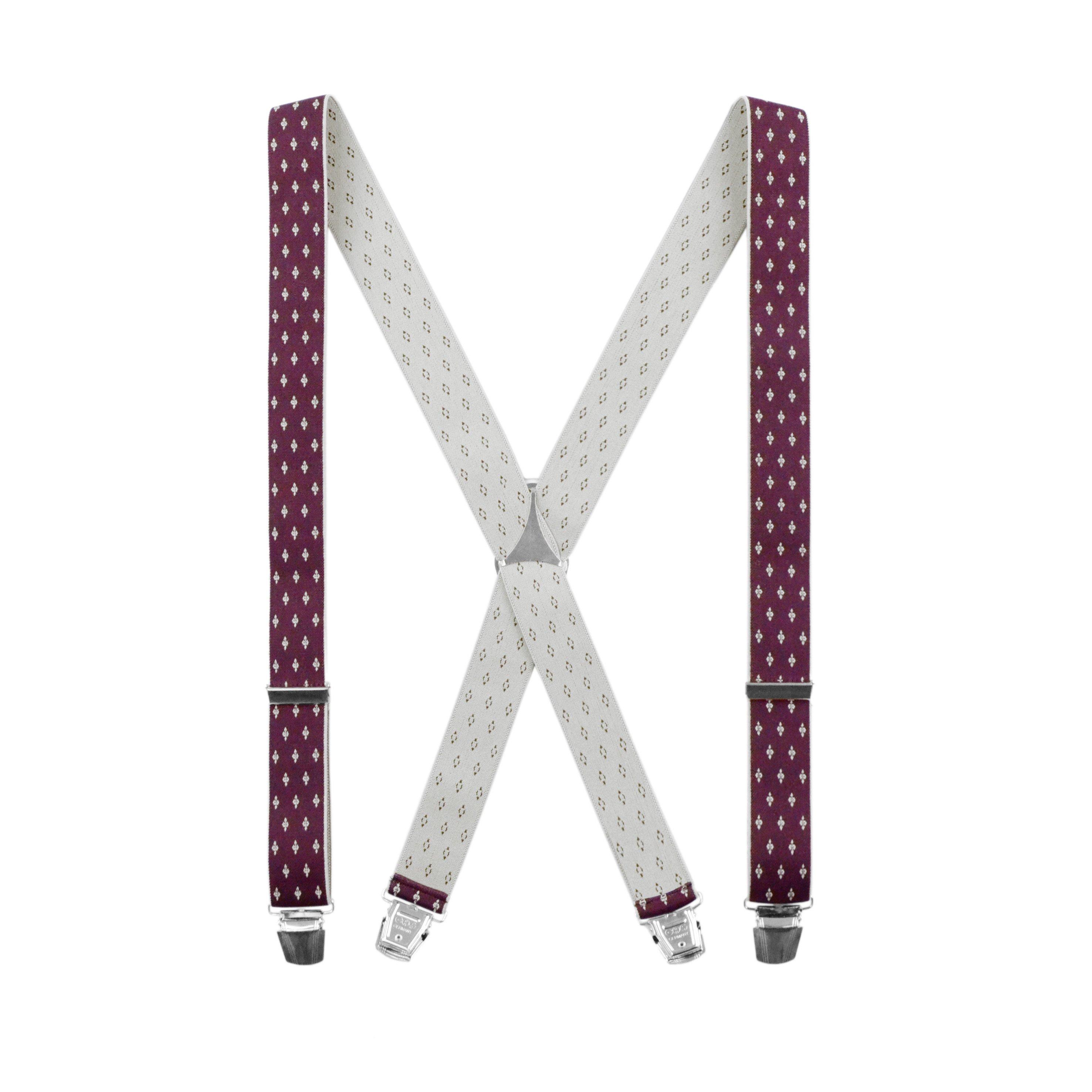 Bretelles spéciales motif Bordeaux