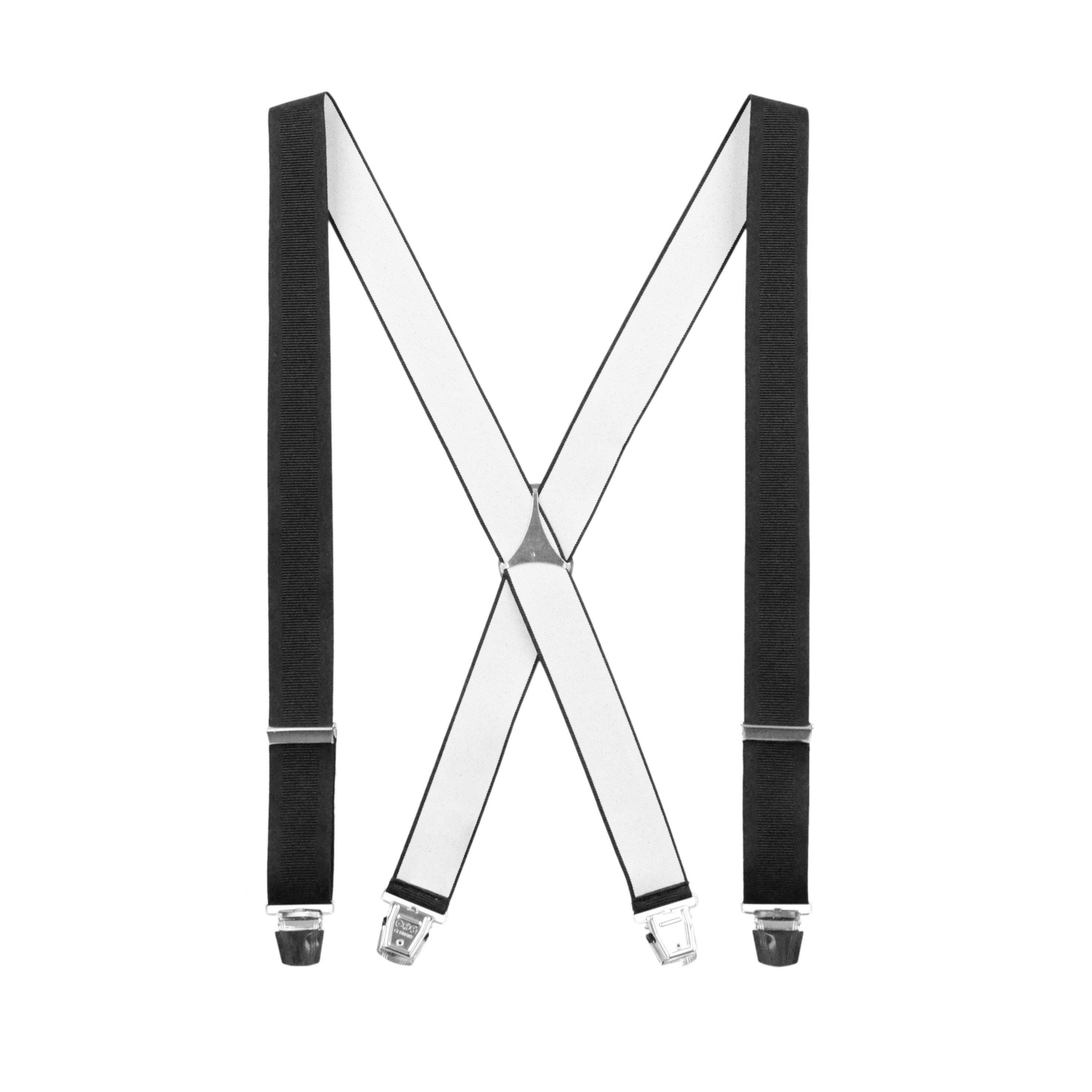 Bretelles classiques Forme X Noir Profond
