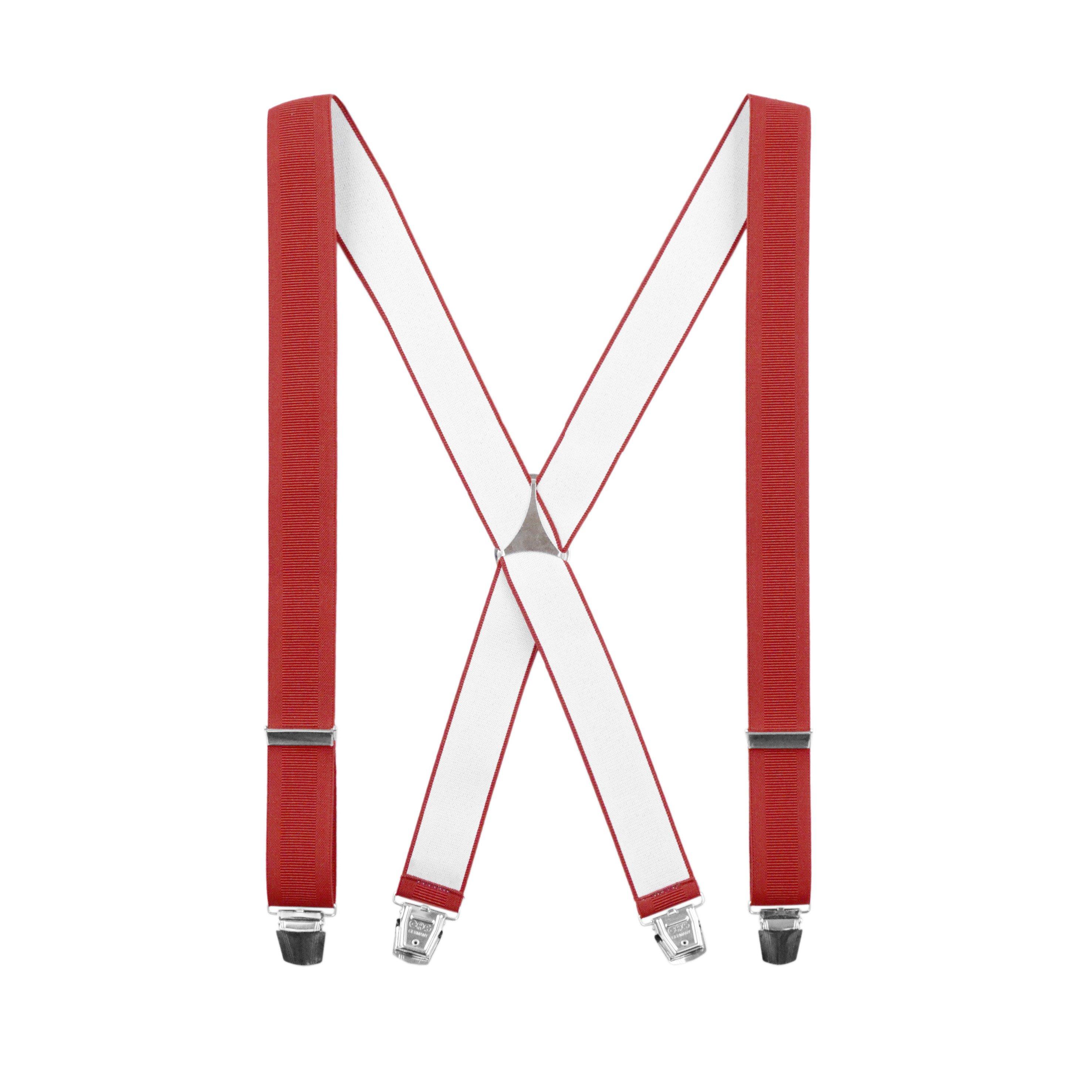 Bretelles classiques Forme X Rouge Rubis
